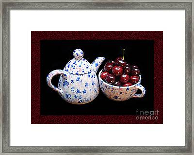 Cherries Invited To Tea 2 Framed Print