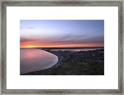 Chesil Beach  Framed Print by Ollie Taylor