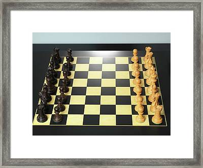 Chess Match Framed Print by Tek Image