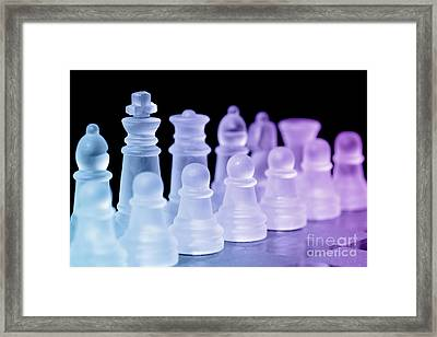 Chess Pieces Framed Print by Amanda Elwell