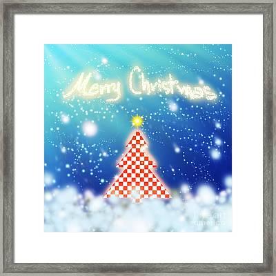 Chess Style Christmas Tree Framed Print