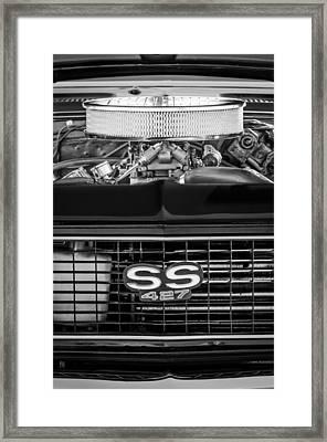 Chevrolet Camaro Ss 427 Grille Emblem - Engine Framed Print by Jill Reger