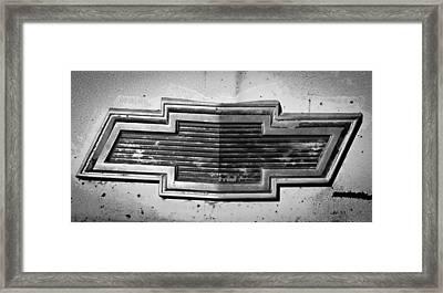 Chevrolet Emblem Framed Print by Jill Reger