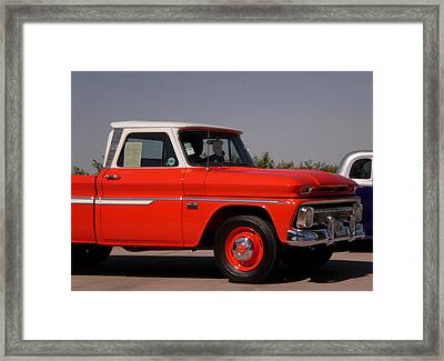 Chevy Orange Framed Print