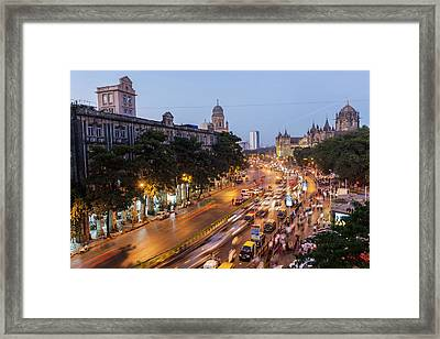 Chhatrapati Shivaji Terminus Train Framed Print by Peter Adams