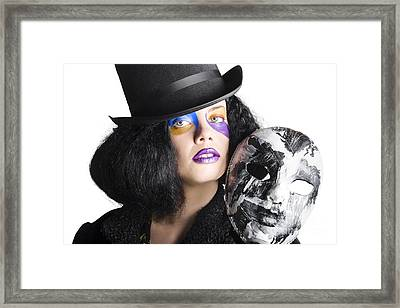 Chic Lady Carnival Mask Framed Print by Jorgo Photography - Wall Art Gallery