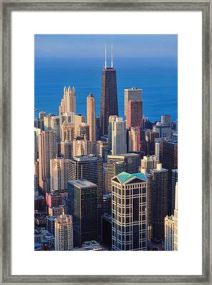 Chicago Aerial View Framed Print
