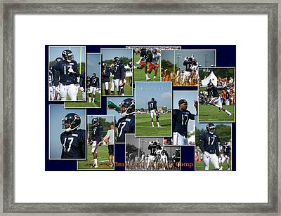 Chicago Bears Wr Alshon Jeffery Training Camp 2014 Sc Framed Print by Thomas Woolworth