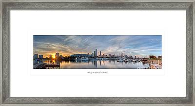 Chicago From Burnham Harbor Framed Print by Twenty Two North Photography