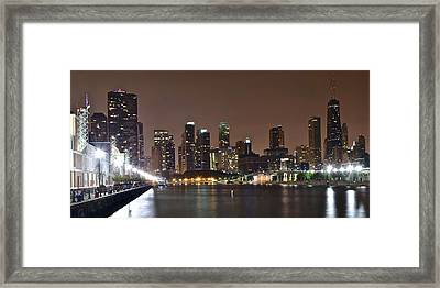 Chicago From Navy Pier Framed Print by Frozen in Time Fine Art Photography