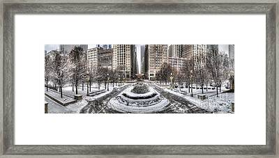Chicago In Winter Framed Print by Twenty Two North Photography