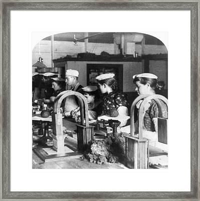 Chicago Meatpacking, C1893 Framed Print by Granger