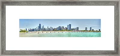 Chicago North Avenue Beach Framed Print by Patrick  Warneka
