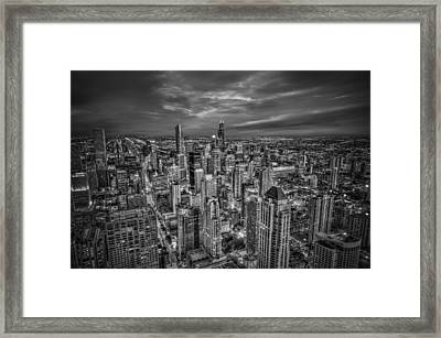 Chicago Skyline Framed Print by Alexander Hill