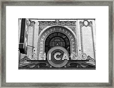 Chicago Theater Marquee Framed Print by Frozen in Time Fine Art Photography