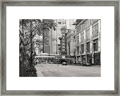 Chicago Theatre - French Baroque Out Of A Movie Framed Print by Christine Till