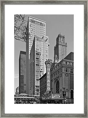 Chicago Theatre - This Theater Exudes Class Framed Print by Christine Till