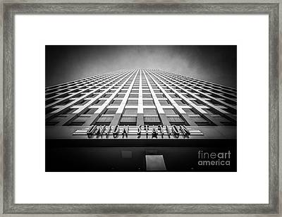 Chicago Union Station In Black And White Framed Print by Paul Velgos