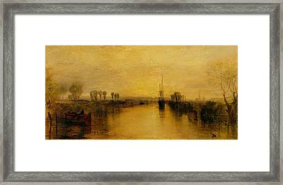 Chichester Canal Framed Print by Joseph Mallord William Turner