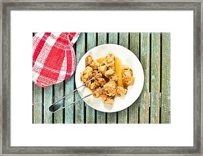 Chicken Meal Framed Print by Tom Gowanlock