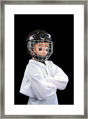 Child Hockey Player Framed Print