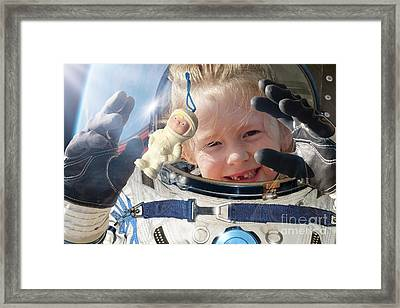 Child Space Tourist Framed Print by Detlev van Ravenswaay