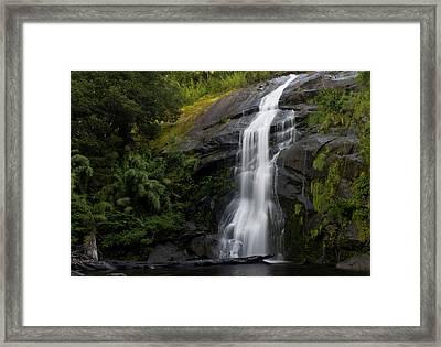 Chile South America Cascada Nido De Framed Print by Scott T. Smith
