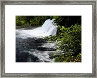 Chile South America Waterfalls At Ojos Framed Print