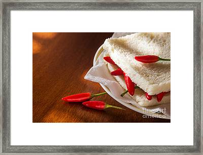 Chili Pepper Sandwich Framed Print