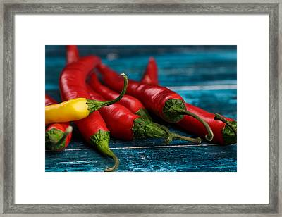 Chili Peppers Framed Print by Nailia Schwarz
