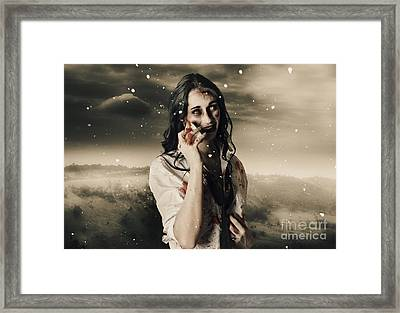 Chill Of Death In Mourning Framed Print