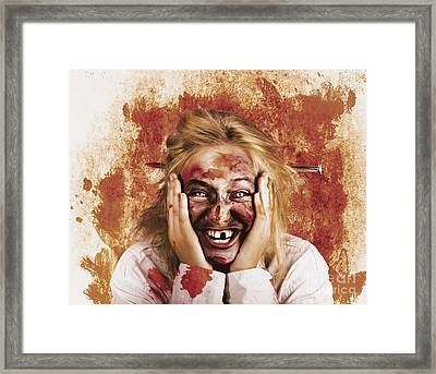 Chilling Female Halloween Spook. Grunge Horror Framed Print by Jorgo Photography - Wall Art Gallery