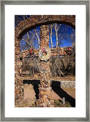 Chimayo Cross Framed Print