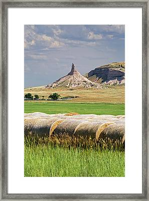 Chimney Rock Framed Print by Jim West