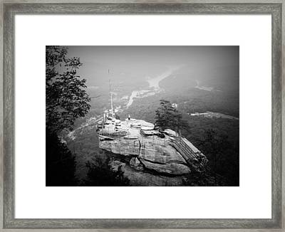 Chimney Rock Framed Print