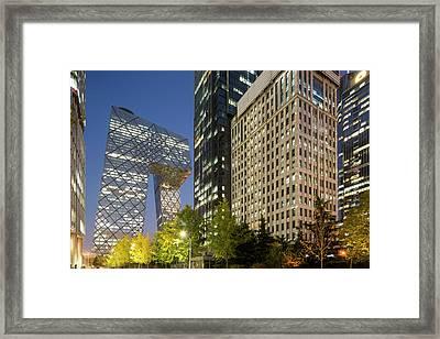 China, Beijing, Gleaming Glass Framed Print