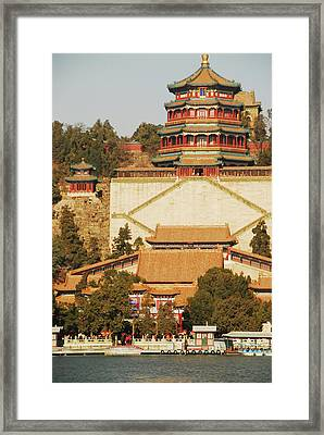 China, Beijing, Summer Palace, Temple Framed Print