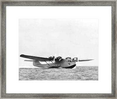 China Clipper Seaplane Framed Print by Underwood Archives