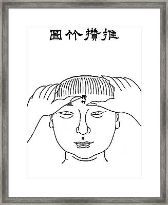 Chinese Massage, Ming Dynasty Framed Print