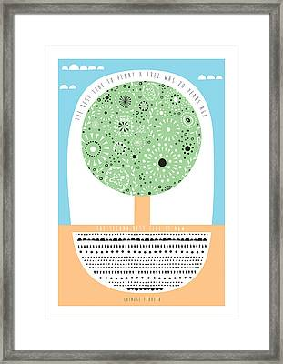 Chinese Proverb Quote Framed Print