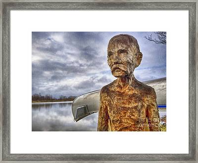 Chiseled Features And A Sun Dried Stare Framed Print