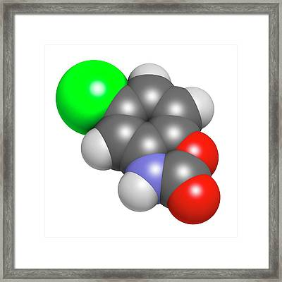 Chlorzoxazone Muscle Relaxant Drug Framed Print by Molekuul