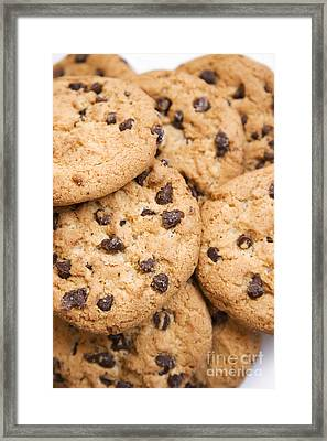 Choc Chip Cookies Framed Print
