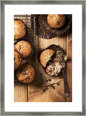Chocolate Chip Muffins Framed Print by Amanda Elwell