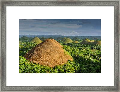 Chocolate Hills, Bohol, Philippines Framed Print by Michael Runkel