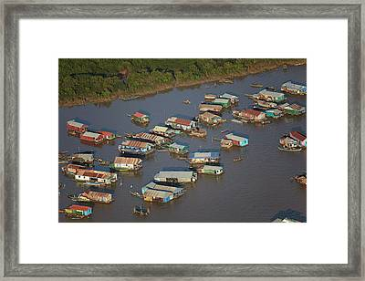 Chong Kneas Floating Village, Tonle Sap Framed Print