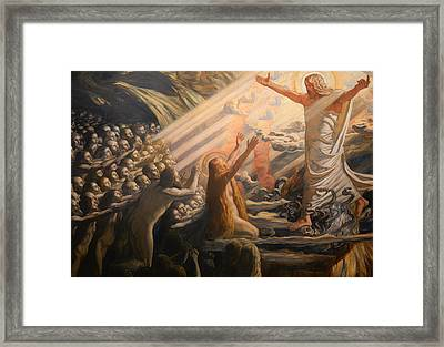 Christ In The Realm Of The Dead Framed Print by Mountain Dreams