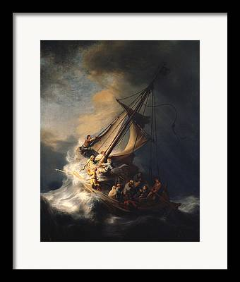 Christ In The Storm Framed Prints