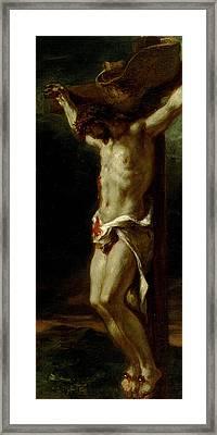 Christ On The Cross Framed Print by Delacroix