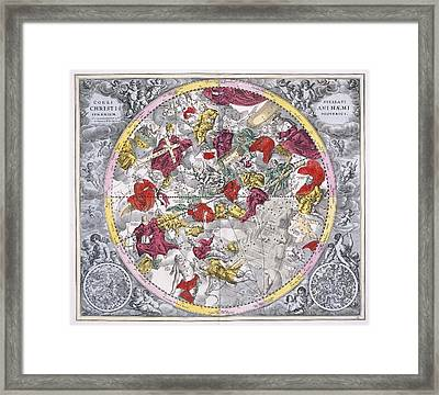 Christianized Constellations, 1708 Framed Print